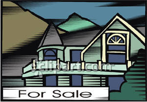 Two story house for sale royalty free clipart picture for 2 story house for sale