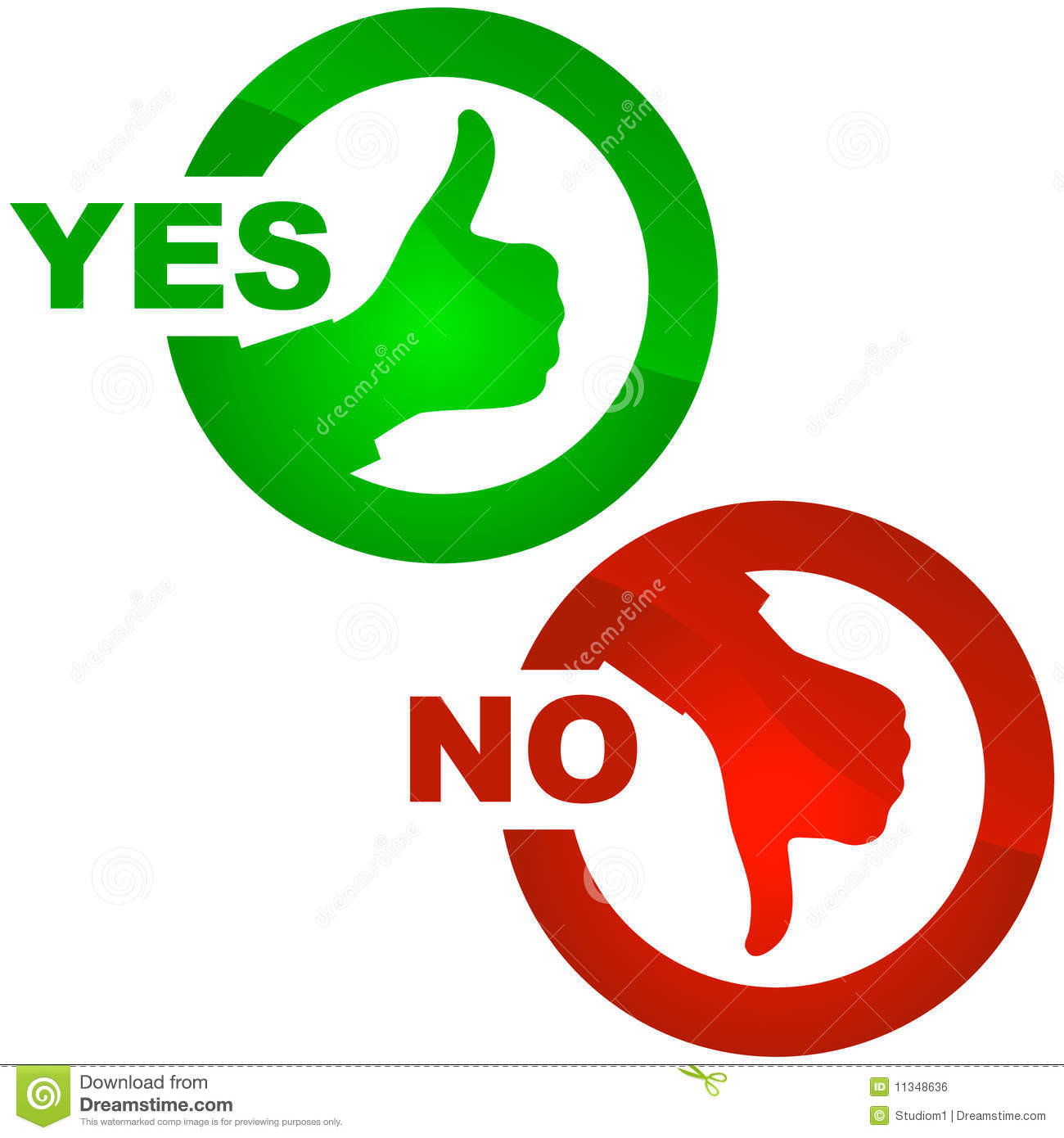 Yes Or No Clipart
