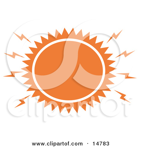 Blazing Hot Orange Sun Clipart Illustration By Andy Nortnik  14783