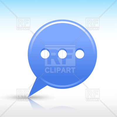 Blue Chat Room Icon Download Royalty Free Vector Clipart  Eps