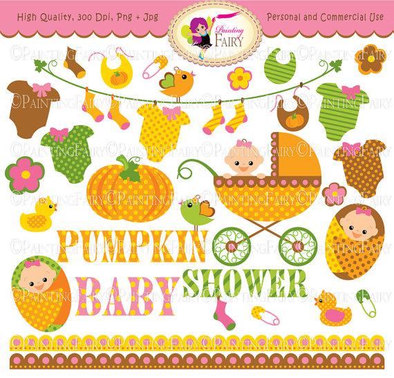 Clipart Cute Pumpkin Baby Clothes Line Socks Baby Shower Fall Baby