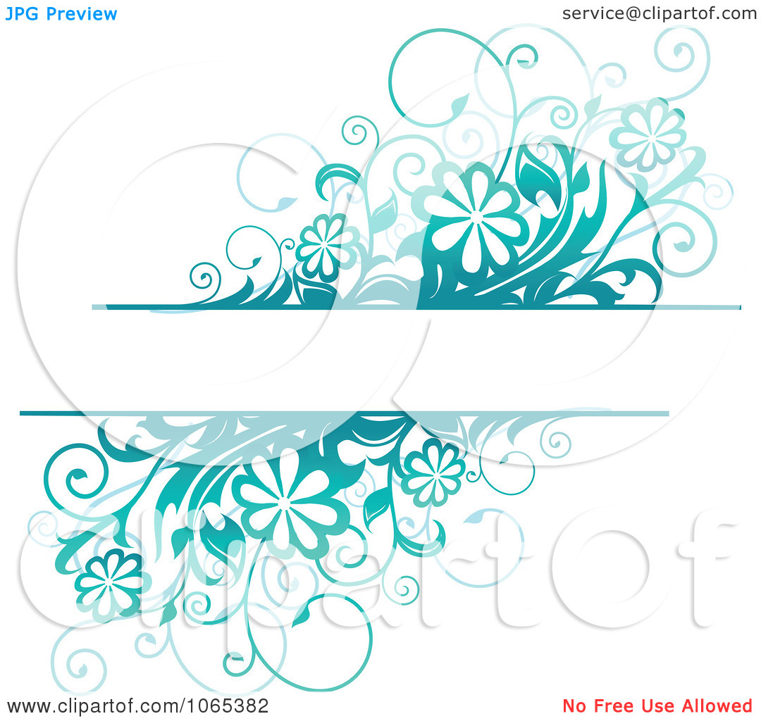 Clipart Turquoise Daisy Background With Copyspace   Royalty Free