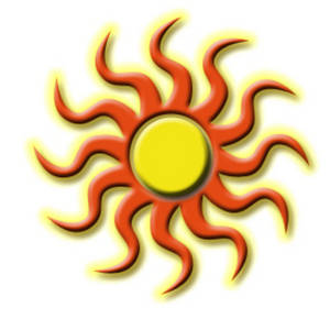 Description  Free Clipart Picture Of A Tribal Sun Design  This Is An