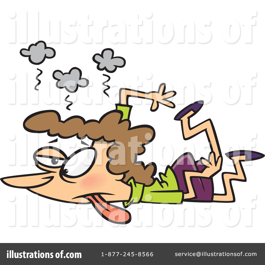 Exhausted Clipart  1097403 By Ron Leishman   Royalty Free  Rf  Stock