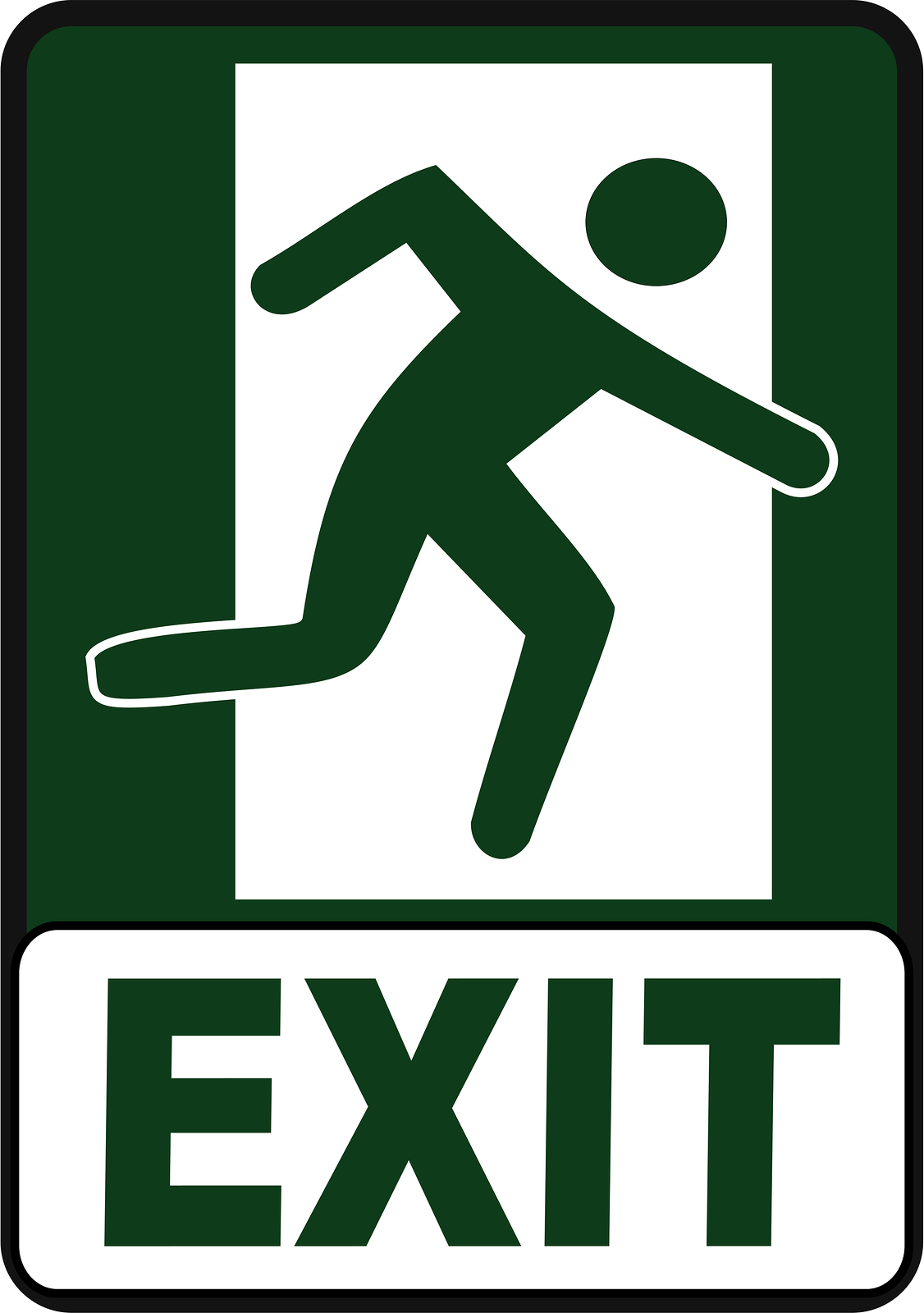 Exit Sign Clipart - Clipart Kid