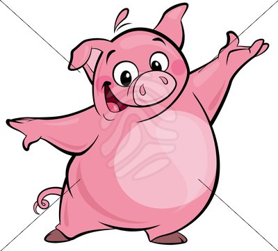 Happy Pig Clipart - Clipart Kid
