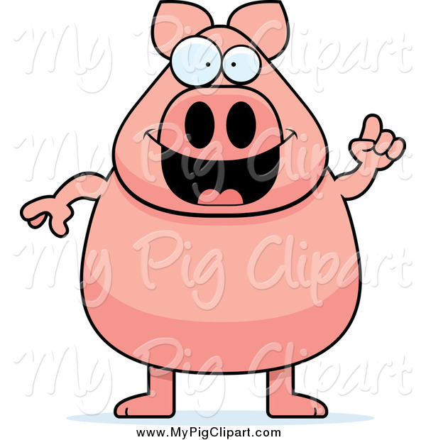 Happy Pig With An Idea Pig Clip Art Cory Thoman