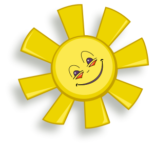 Happy Sun Clipart Vector Clip Art Online Royalty Free Design