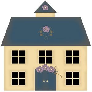 Clip Art Primitive House Clipart - Clipart Kid