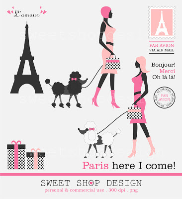 Paris Digital Clip Art Poodles Animal Clip Art Royalty Free Clip Art