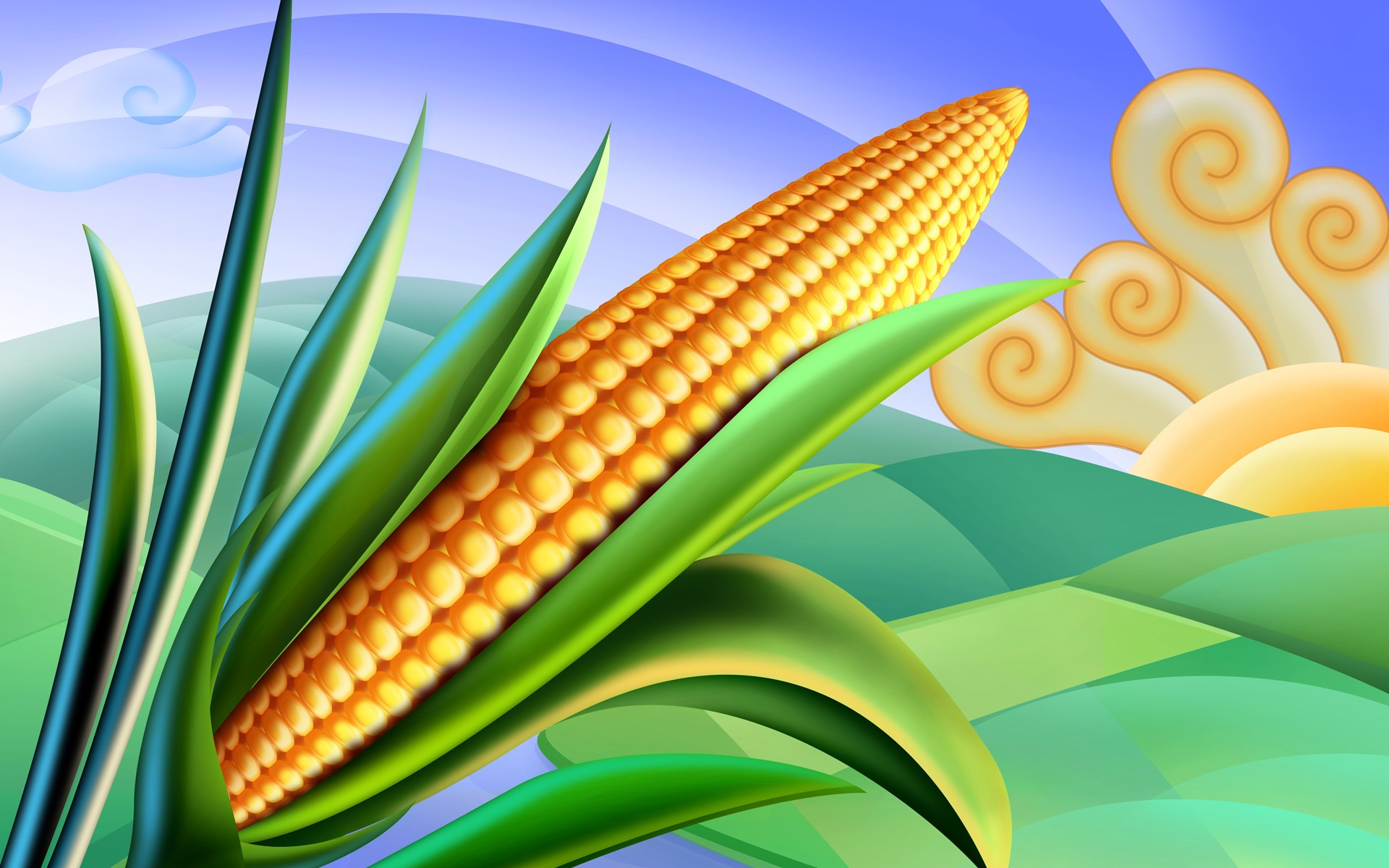 Psd Food Illustrations 3193 Corn Clipart Corn Picture Jpg