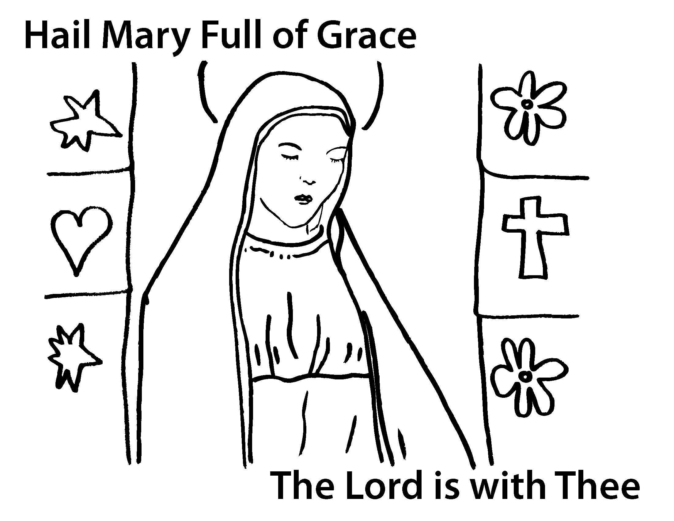 Hail Mary Clipart Clipart Suggest Hail Coloring Page
