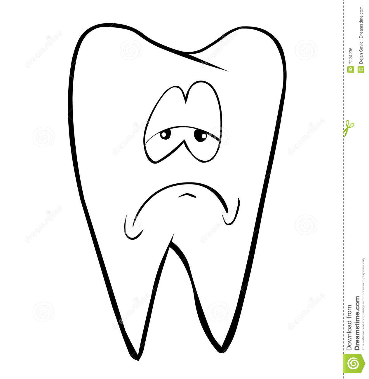 Sad Tooth Clipart - Clipart Kid