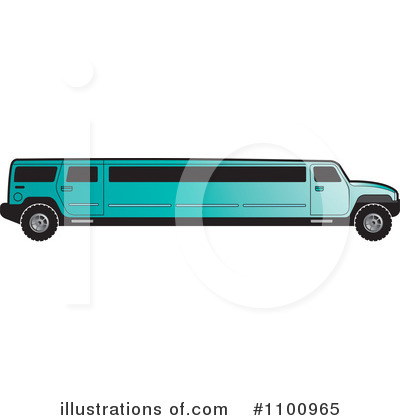 Turquoise Limo Royalty Free  Rf  Limo Clipart