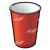 Beka Book    Clip Art    Plastic Cup Red
