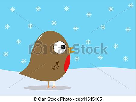 Clipart Of Christmas Robin And Snow   Christmas Robin Bird With Snow