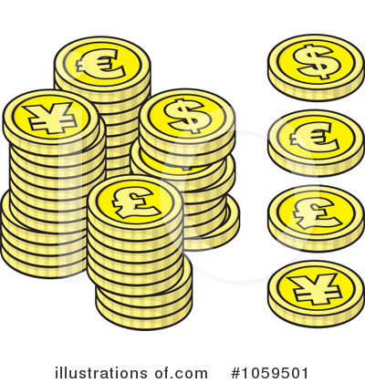 Coins Clipart  1059501   Illustration By Any Vector