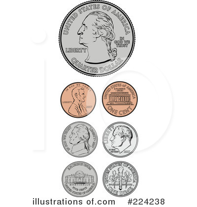 Coins Clipart  224238   Illustration By Bestvector