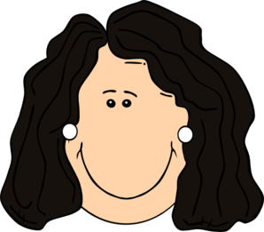 Image result for clip art dark haired woman