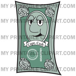 Face On A 20 Dollar Bill Clipart Illustration   Image 15885 By Andy