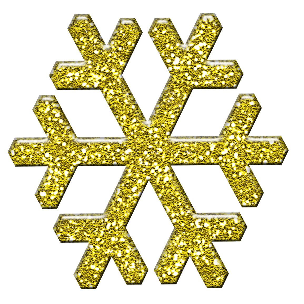 Gold Snowflake Clipart - Clipart Suggest