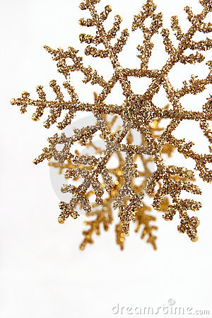 Gold Glitter Snowflake Ornaments Vertical Stock Photo   Image  3892690
