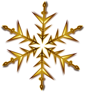 Gold Snowflake Clip Art At Clker Com   Vector Clip Art Online Royalty