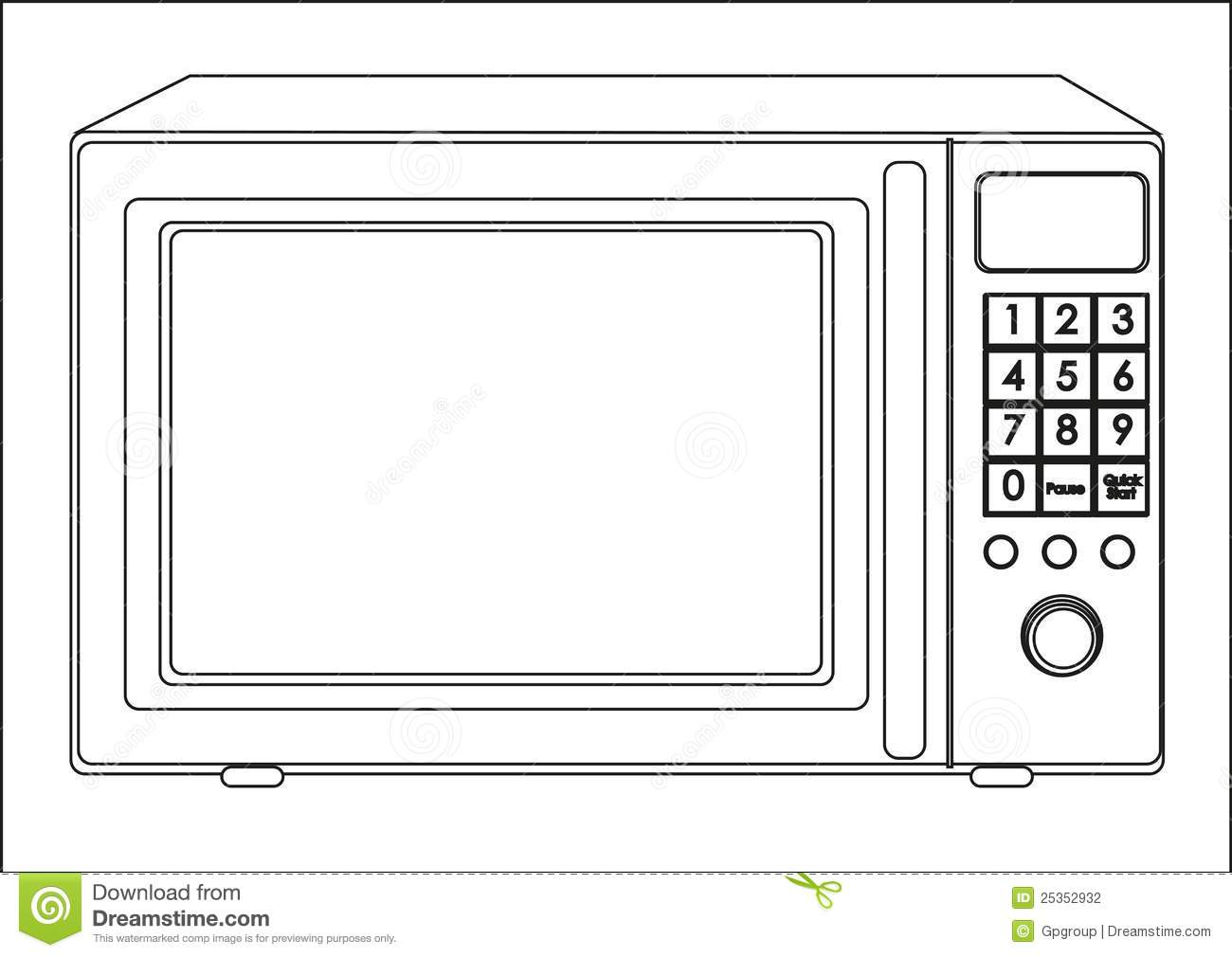 Microwave Oven Clip Art ~ Microwave clipart suggest