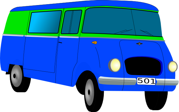 Mini Bus Clip Art At Clker Com   Vector Clip Art Online Royalty Free