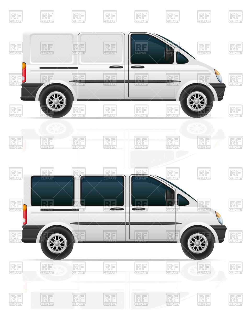 Mini Bus For Passengers Download Royalty Free Vector Clipart  Eps