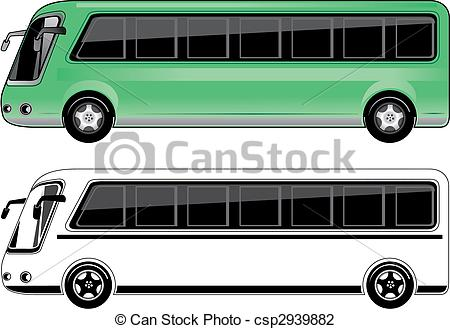 Of Mini Bus   Two Color Mini Bus Csp2939882   Search Clipart