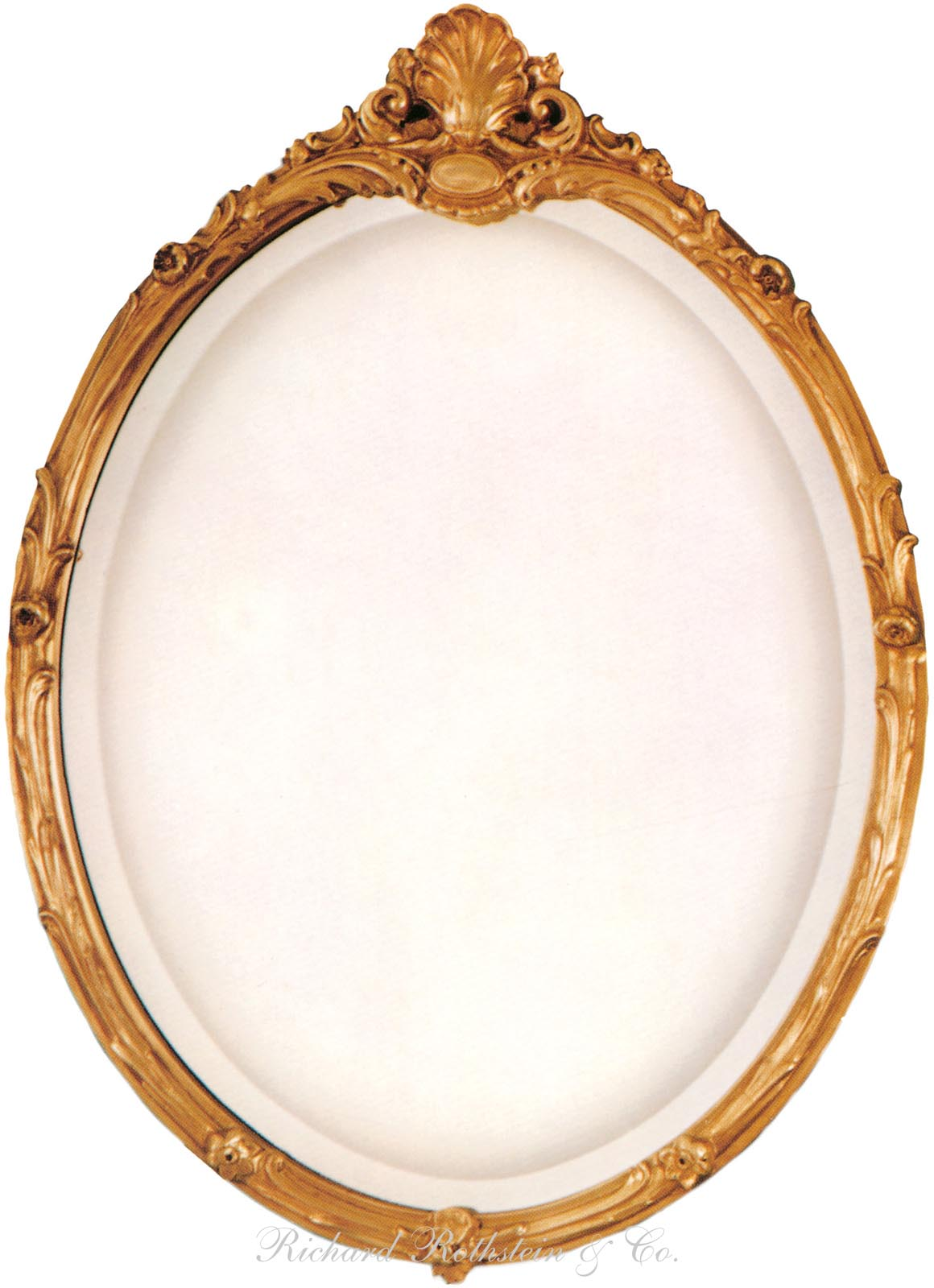 Oval Mirror Gold French Style Oval Mirror