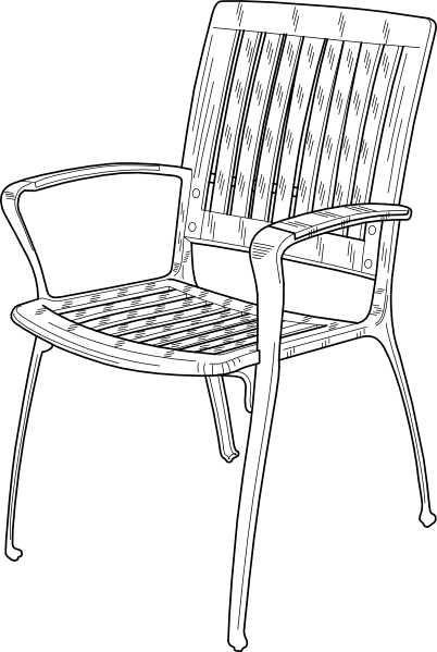 Plastic Chair Clip Art At Clker Com   Vector Clip Art Online Royalty