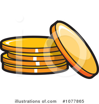 Royalty Free  Rf  Gold Coins Clipart Illustration By Jtoons   Stock
