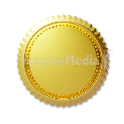 Gold Seal Clipart - Clipart Kid