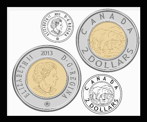 Third Additional Product Image For   Canadian Coins Clipart Set