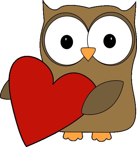 Valentine's Day Owl Clipart - Clipart Kid