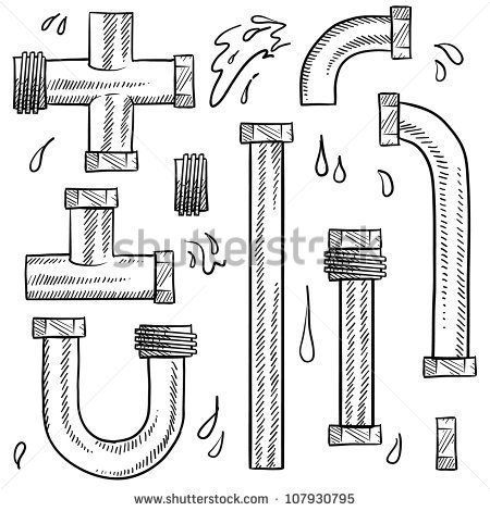Water Pipeline Clipart Doodle Style Water Pipes