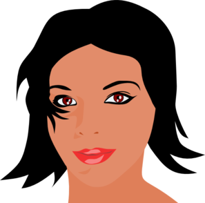 Woman With Black Hair Clip Art At Clker Com   Vector Clip Art Online