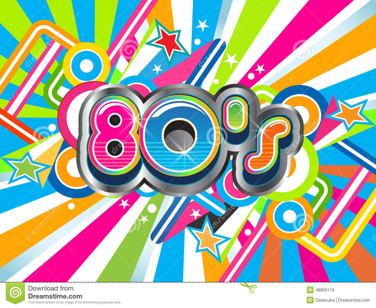 80s Party Background Stock Vector   Image  48850119
