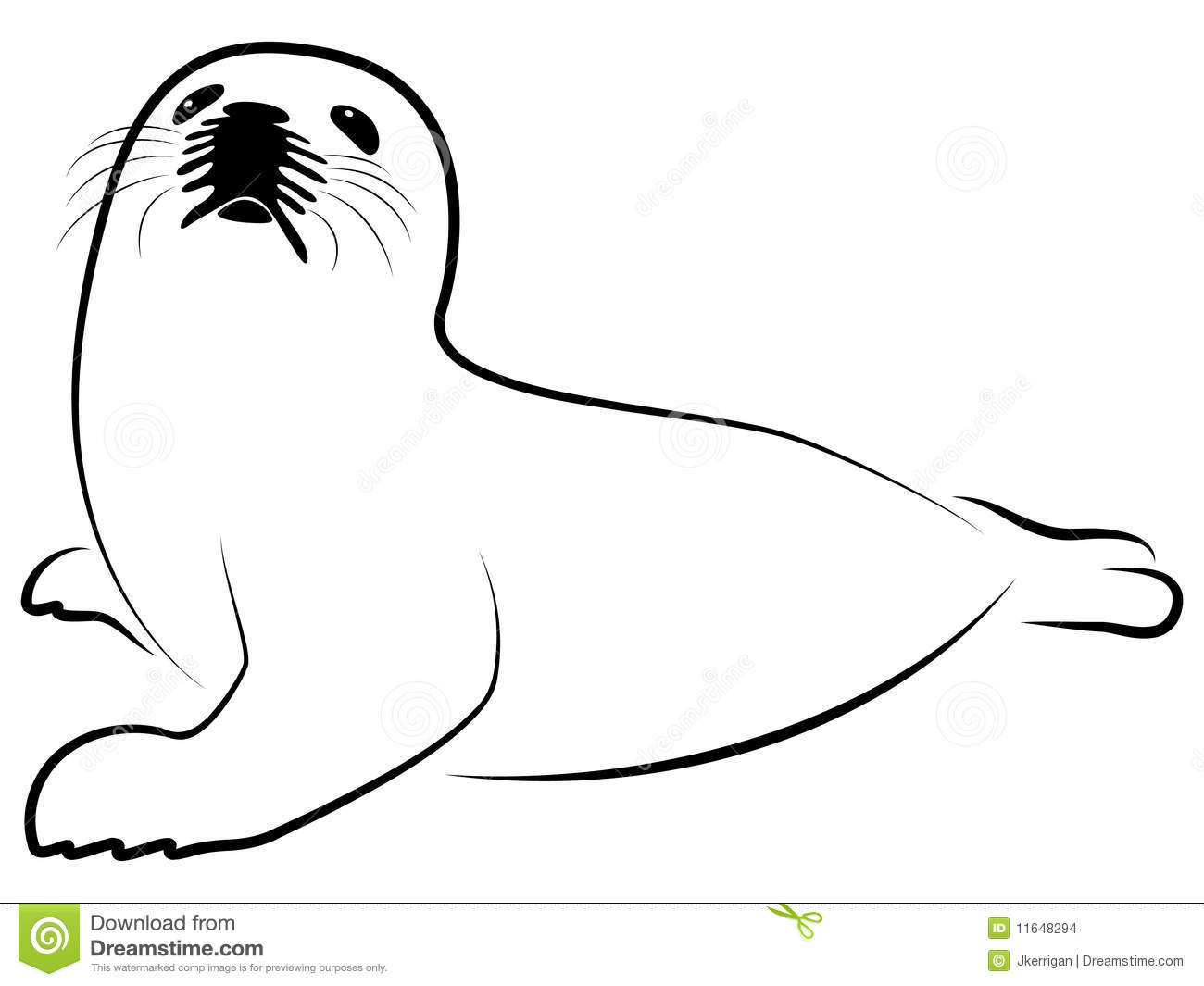 Arctic Animals Black And White Clipart Baby Harp Seal 11648294 Jpg