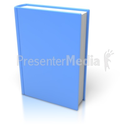 Blue Book Standing Upright   Home And Lifestyle   Great Clipart For