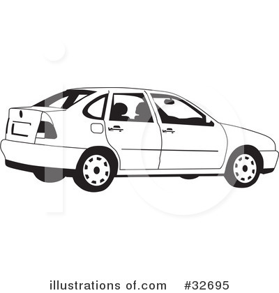 Car Clipart  32695 By David Rey   Royalty Free  Rf  Stock