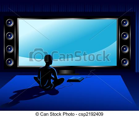 Coumputer Game Console In Front    Csp2192409   Search Vector Clipart
