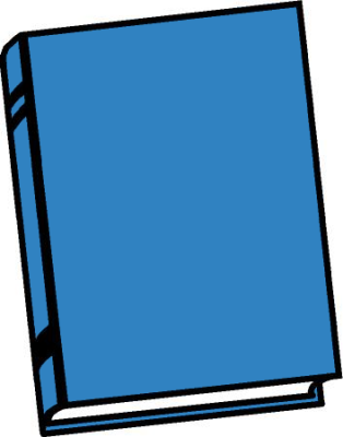 Free Clipart Of Blue Book Clipart Of A Blue Hard Back