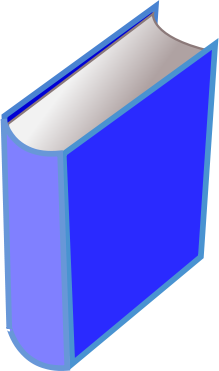 Free Clipart Of Blue Book Clipart Of A Standing Big Blue