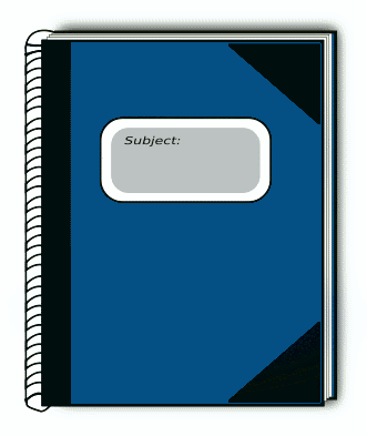Free Clipart Of Notebook Clipart Of A Blue Notebook With Black Corners