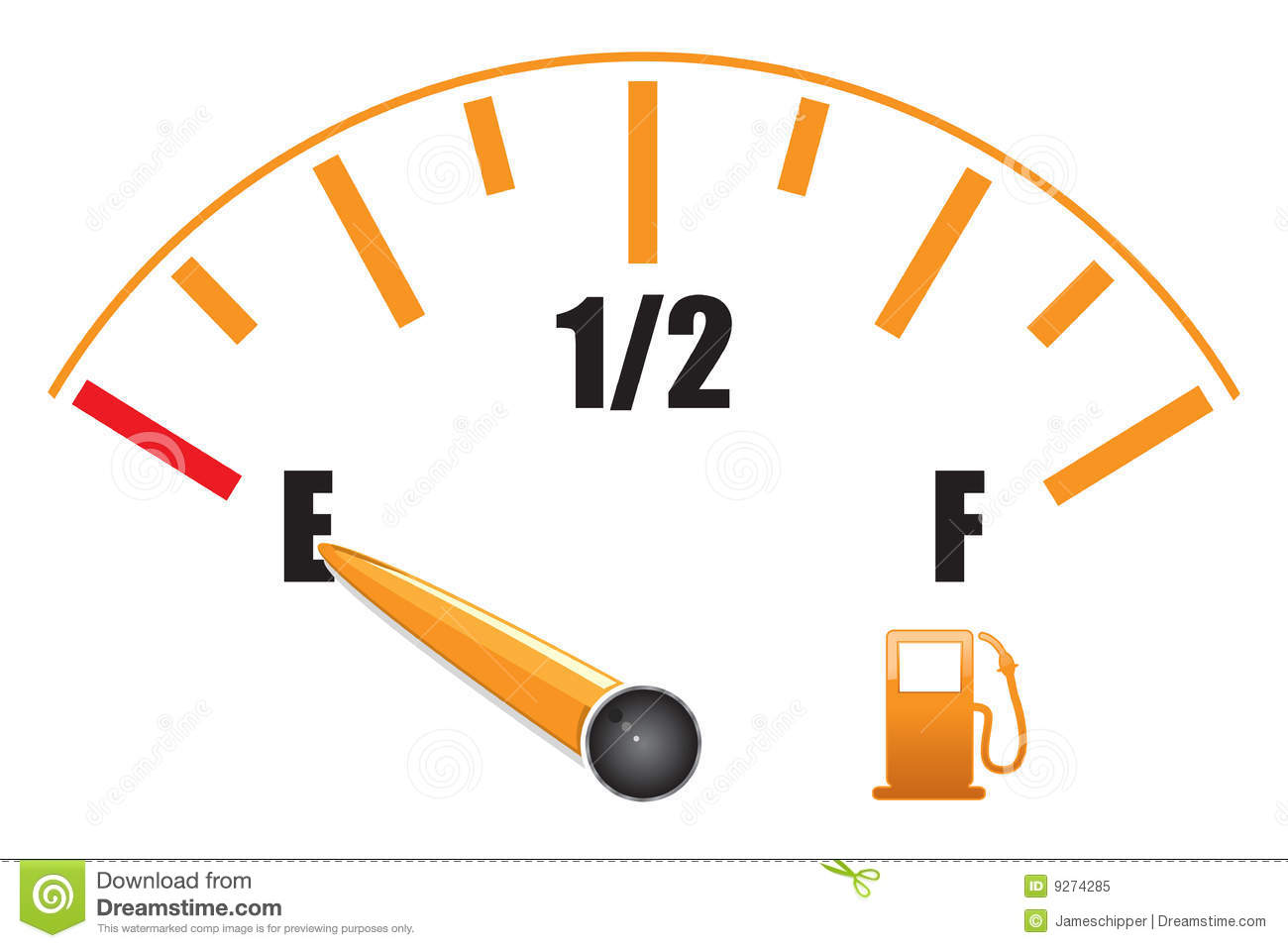 Fuel Gauge Royalty Free Stock Photo   Image  9274285