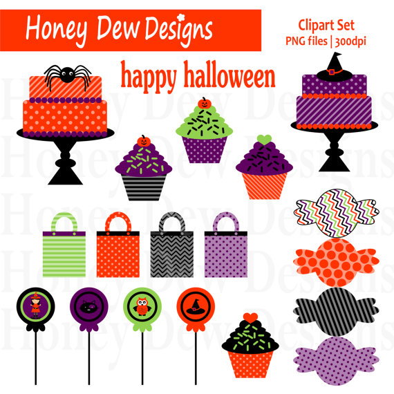 Instant Download   Clipart Package 085   Halloween Candy Clipart