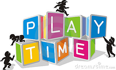 Kids play time blocks royalty free stock photos clipart